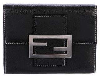 Fendi Leather Compact Wallet