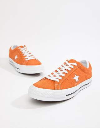 Converse One Star Ox Sneakers In Orange
