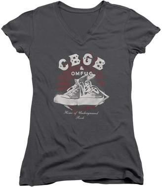 CBGB Womens High Tops V-Neck T-Shirt