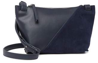 French Connection Keira Suede Trimmed Crossbody Bag