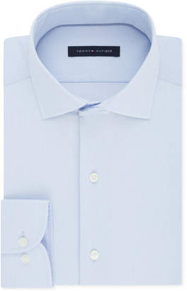 Tommy Hilfiger Men Classic/Regular Fit Non-Iron Performance Stretch Solid Dress Shirt