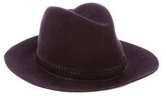 Rag & Bone Leather-Trimmed Felt Hat