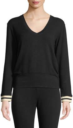 Monrow V-Neck Long-Sleeve Pullover Sweater