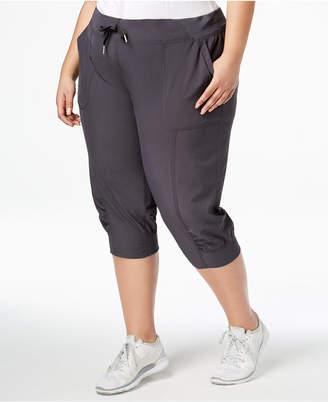 Calvin Klein Plus Size Seamed Cuffed Capri Pants