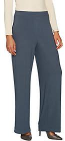 Susan Graver Pet. Textured Liquid Knit Pull-OnWide Leg Pants