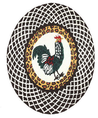 The Rug Market Rooster Hand-Made Acrylic Contemporary Rug