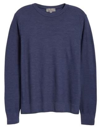 Canali Stripe Crewneck Wool Sweater
