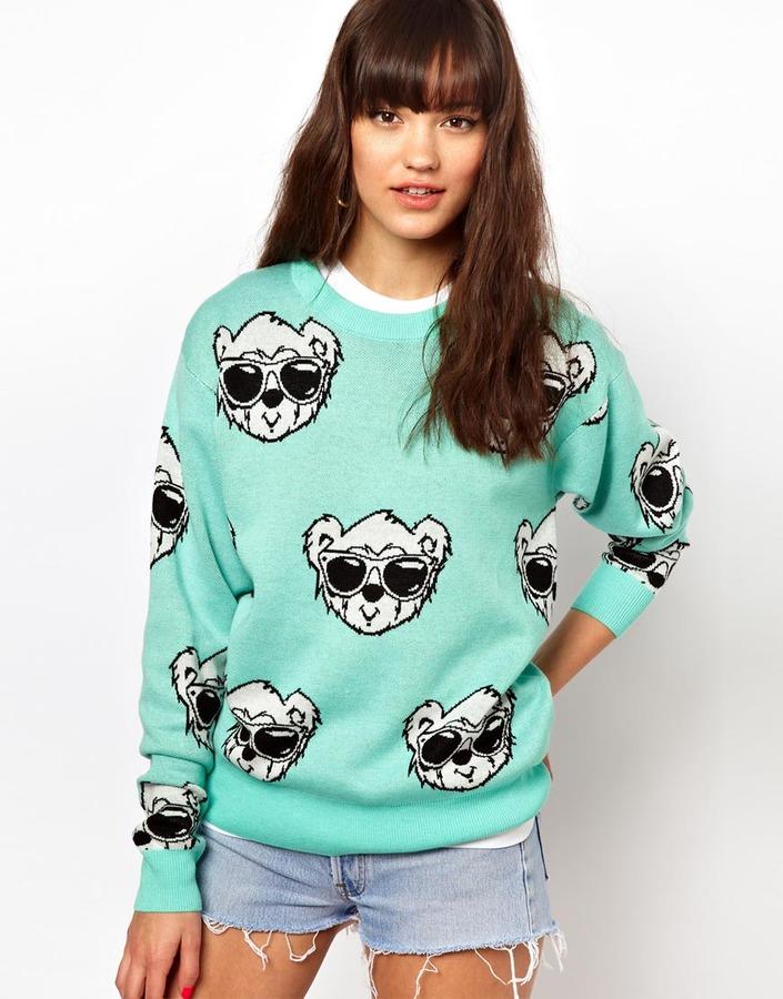 Joyrich Bear Face Sweater