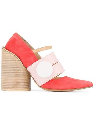 Jacquemus Red Pink Les Chaussures Gros Bouton 110 pumps