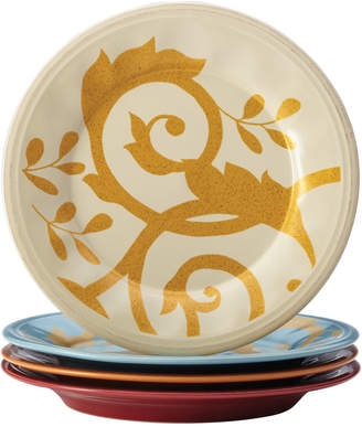Meyer Rachael Ray Gold Scroll Set Of Four 9.5In Salad Plates