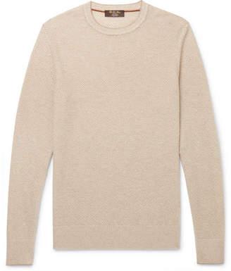 Loro Piana Slim-Fit Waffle-Knit Baby Cashmere Sweater
