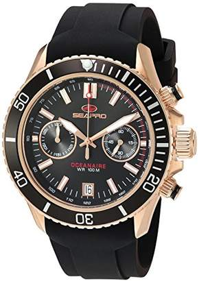 Seapro Men's 'Scuba Dragon' Quartz Stainless Steel and Silicone Casual Watch