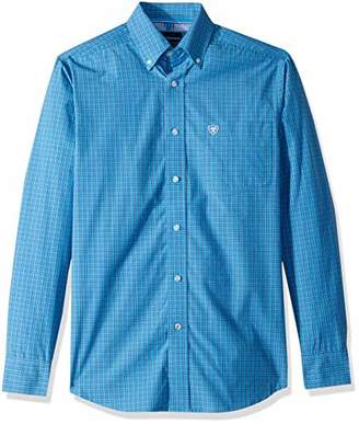 Ariat Men's Tall Size Fitted Long Sleeve Button Down Shirt