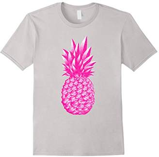 Pink Pineapple Funny Novelty T Shirt Top for Women