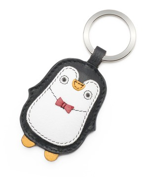 Original Penguin Ili ili Leather Penguin Key Chain