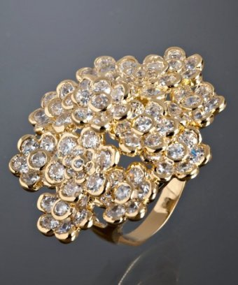 Jardin gold 'Fancy 13 Blooms' cocktail ring