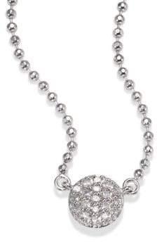 Phillips House Micro Infinity Diamond& 14K White Gold Pendant Necklace