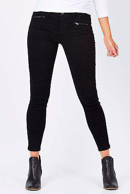 Liverpool NEW Womens Skinny Jeans Remy Zip Hugger Ankle BlackRinse