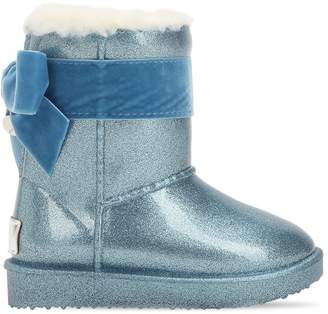 MonnaLisa Faux Shearling & Rubber Boots