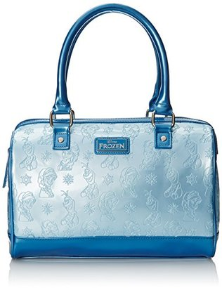 Disney Frozen Embossed Lite Blue Shoulder Bag $45.87 thestylecure.com