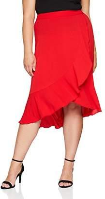 Evans Women's Ruffle Midi Skirt