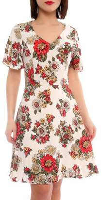Marvy Fashion Flower Print Dress
