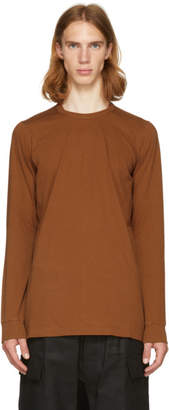 Rick Owens Brown Long Sleeve Level T-Shirt