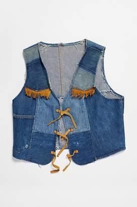 Vintage Loves Vintage 1970s Handmade Denim Patchwork Vest