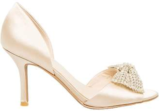 Le Château Women's Jewel Embellished Satin D'Orsay Pump