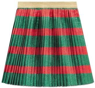 Gucci Kids pleated striped mini skirt