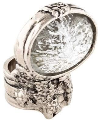 Saint Laurent Arty Oval Ring