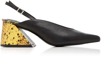 YUUL YIE Amie Two-Tone Slingback Leather Pumps Size: 35
