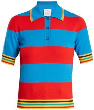 Stella Jean Striped knit polo shirt