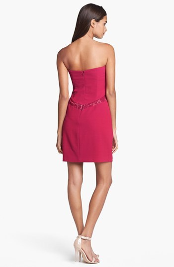 Max & Cleo Lace Inset Crepe Sheath Dress