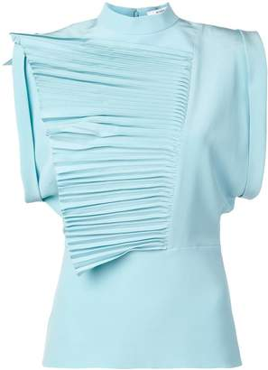 Givenchy pleated ruffles top