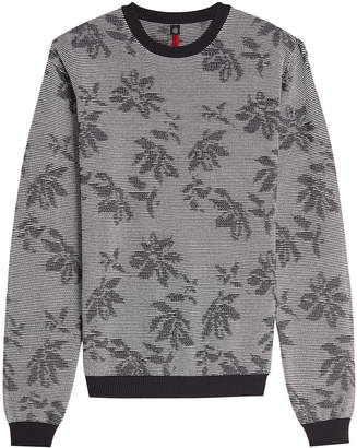 Oamc Printed Cotton Top with Wool