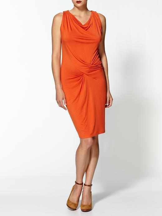 MICHAEL Michael Kors Sleeveless Logo Pin Dress With Asymmetrical Draping
