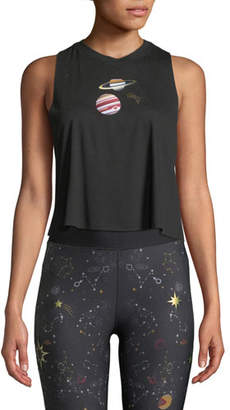 Ultracor Galaxy Cropped Graphic Racerback Tank