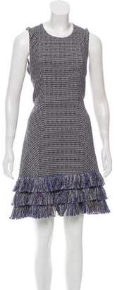 Theyskens' Theory Tweed Fringe Dress