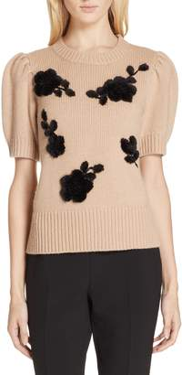 Kate Spade floral applique sweater