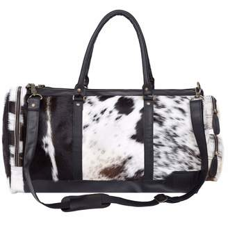 MAHI Leather - Leather Columbus Duffle Weekend / Overnight Bag - Animal Print Pony Hair