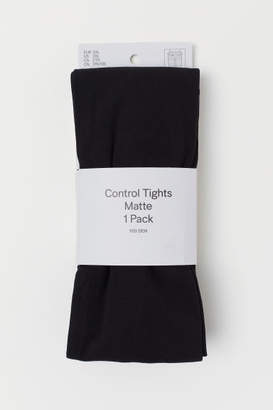 H&M 100 Denier Control-top Tights - Black