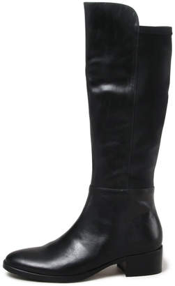 Django & Juliette Tetley Black Boots Womens Shoes Casual Long Boots