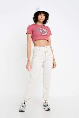 BDG Stone Corduroy Mom Trousers - grey 30W 28L at Urban Outfitters