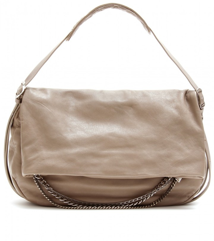 Jimmy Choo BIKER LEATHER HOBO WITH CHAIN ACCENTS