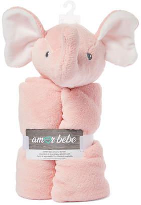 Amor Bebe Infant Jumbo Elephant Security Blanket