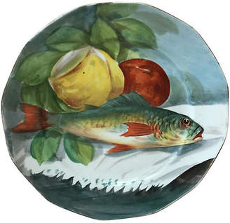 One Kings Lane Vintage French Limoges Porcelain Fish Plate - majolicadream