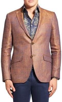 Etro Sheen Textured Linen Blazer