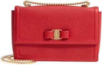 Salvatore Ferragamo Medium Ginny Grained Leather Bow Shoulder Bag 1fbd2f06a04ba
