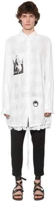 Ann Demeulemeester Double Collar Striped Cotton Shirt